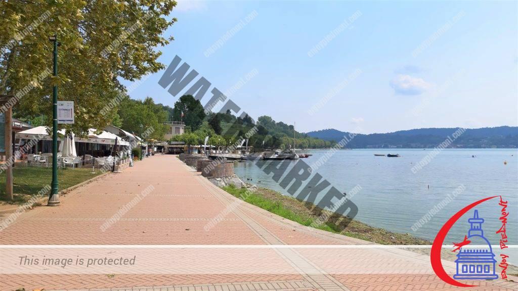 Lake Viverone - the lakeside promenade