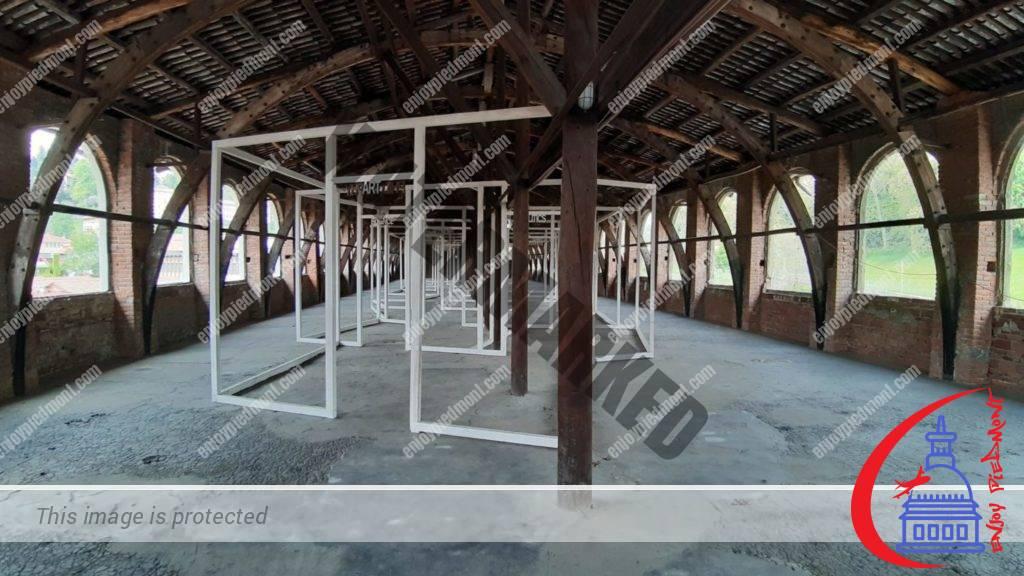 Cittadellarte - former dye-works - Porte-Uffizi installation by Pistoletto