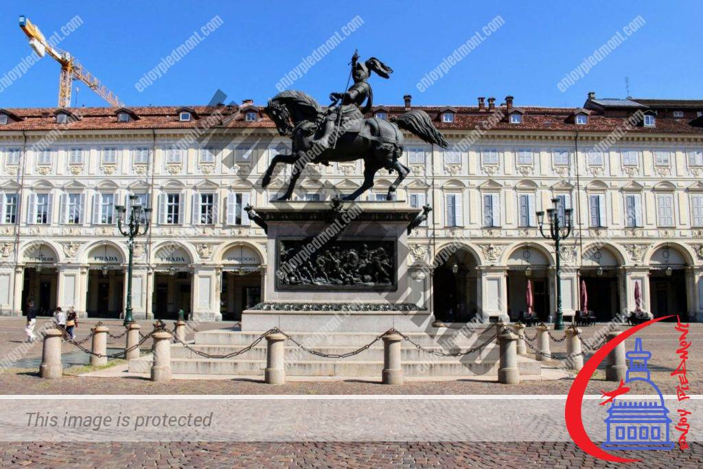 Top Things to Do in Turin - Piazza San Carlo and the equestrian statue representing Duke Emanuele Filiberto of Savoy