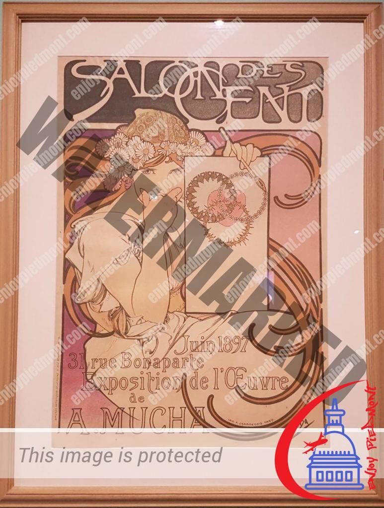 Art Nouveau - Poster for the Salon des Cent - Alphonse Mucha