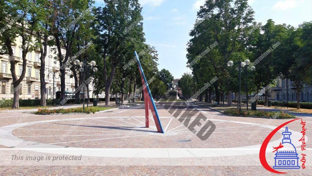 Piazza Solferino - meridiana installazione