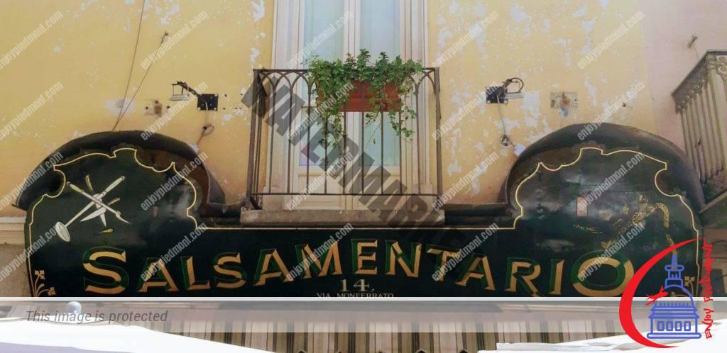 Historical Salsamentario Sign