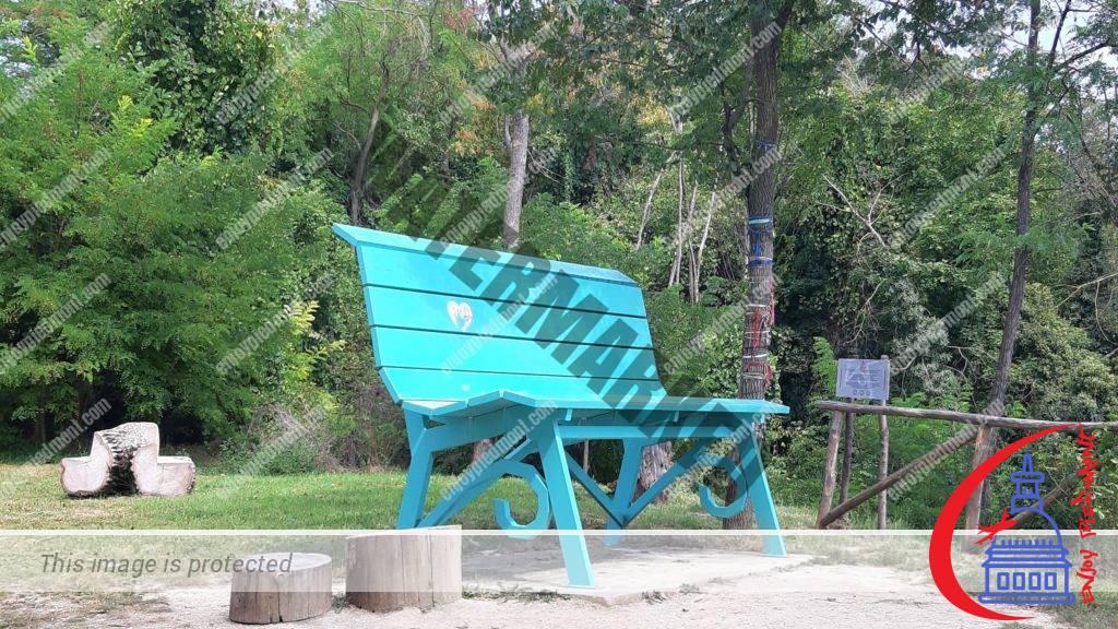 Turquoise Big Bench of Scaparone
