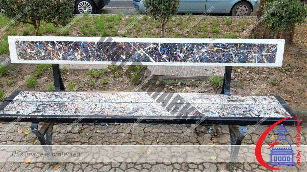 The Artists' Benches in Piazza Moncenisio
